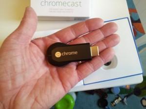 Chromecast in hand