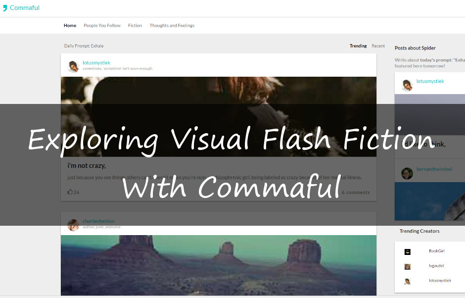 Exploring Visual Flash Fiction with Commaful