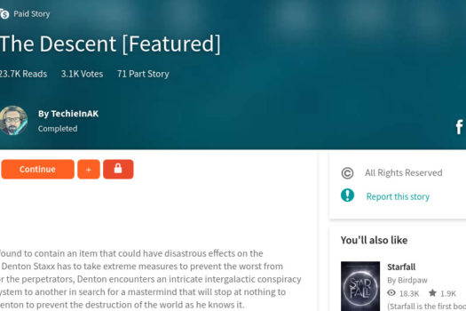 The Descent Joins The Wattpad Paid Stories Program