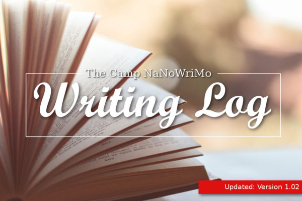 Camp NaNoWriMo Writing Log V1.02